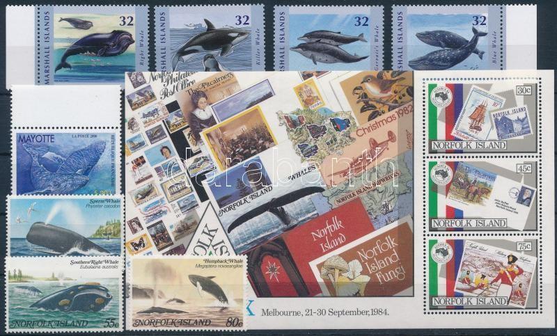 1982-2012 Sea animals 2 sets + 1 block + 1 stamp, 1982-2012 Tengeri állatok motívum 2 db sor + 1 db blokk + 1 db önálló érték