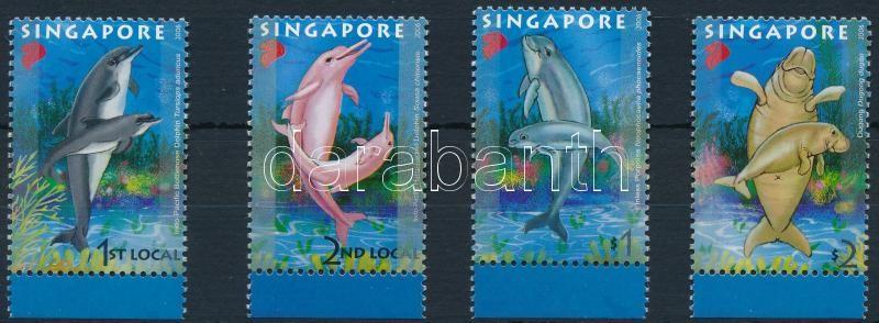 Marine animals margin set, Tengeri állatok ívszéli sor