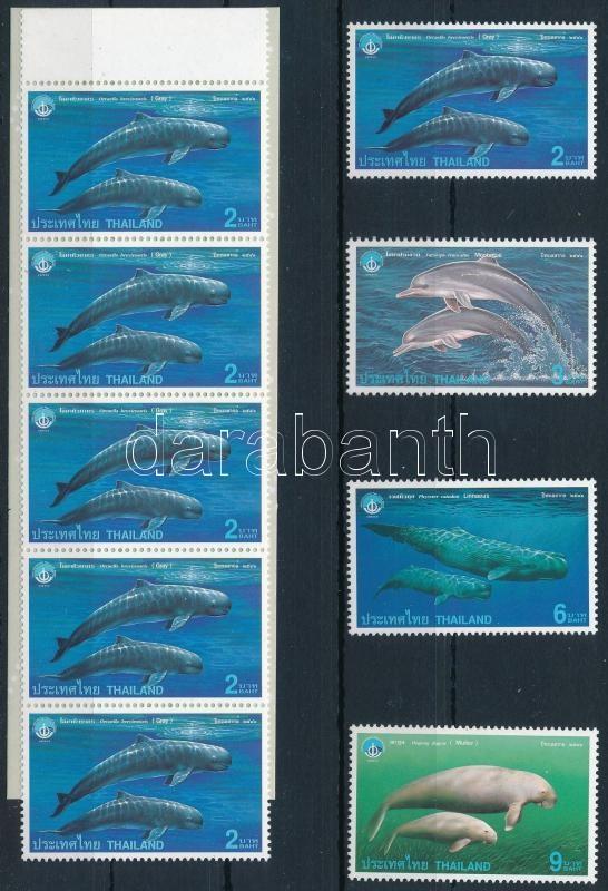 Marine mammals set + stamp booklet, Tengeri emlősállatok sor + bélyegfüzet