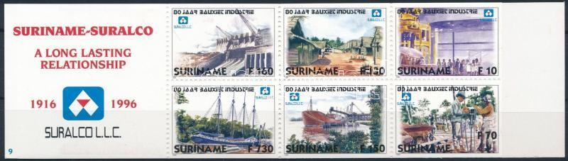 Suralco company bauxite industry stamp booklet, Suralco cég, bauxitipar bélyegfüzet