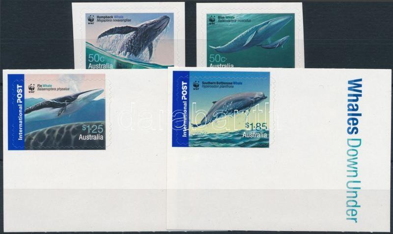 WWF: Whale self adhesive set, WWF: Bálna öntapadós sor