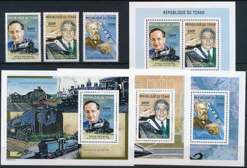 Famous people stamp + block, Híres emberek bélyeg és blokk formában + blokk