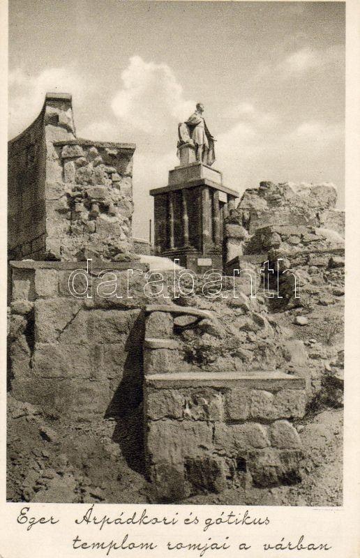 Eger, Árpád-kori és gótikus templom romjai a várban