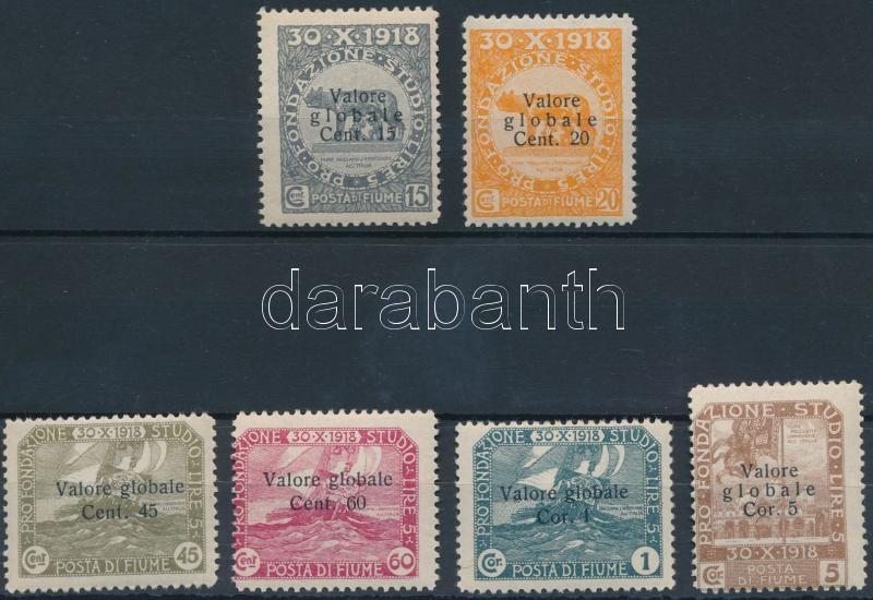 6 definitive stamps, 6 klf forgalmi bélyeg