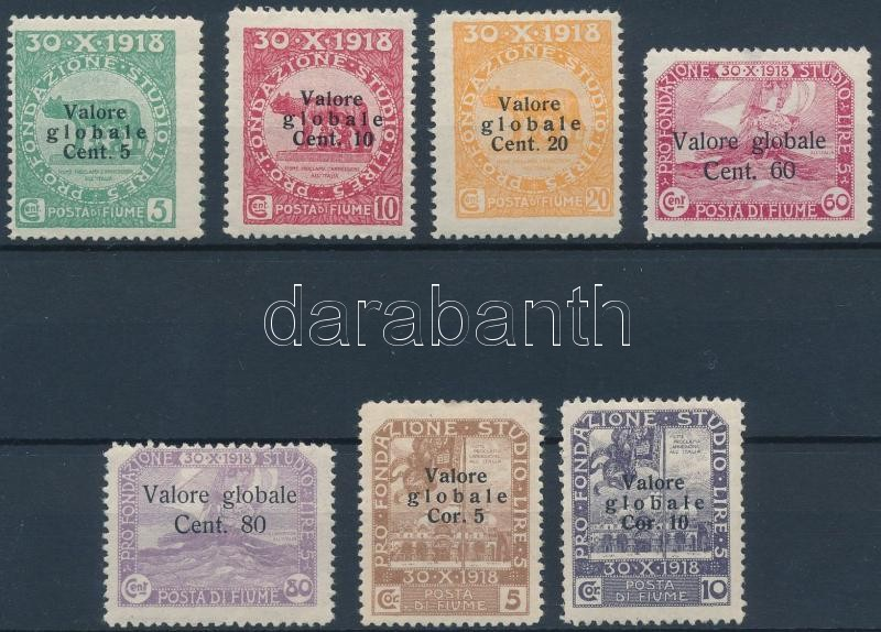 Definitive 7 diff stamps, 7 klf Forgalmi bélyeg