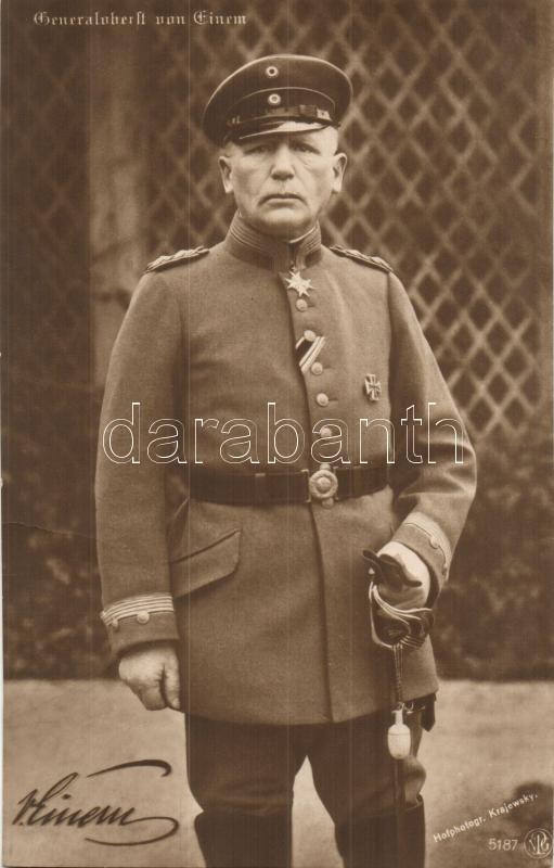 Generaloberst Karl von Einem, Karl von Einem német vezérezredes