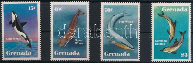 Whales, dolphins set, Bálnák, delfinek sor
