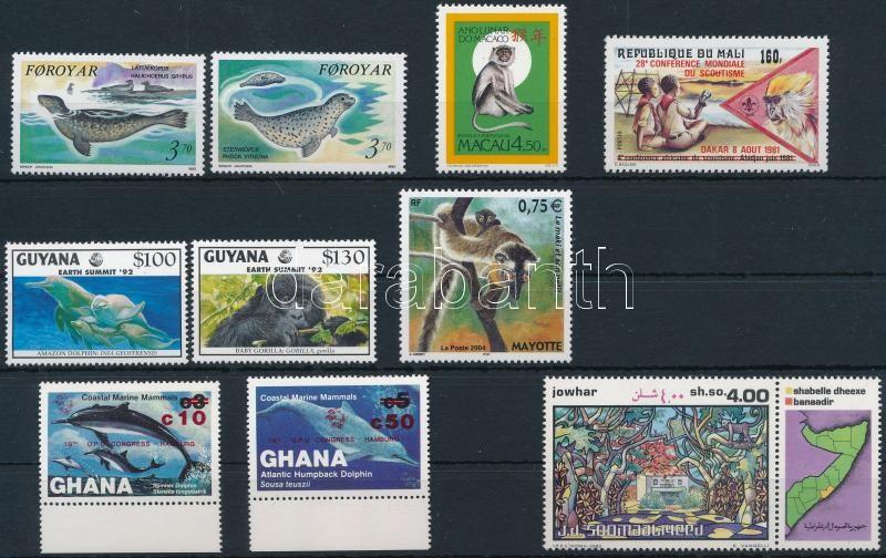 1981-2004 Animals 3 sets + 4 stamps, 1981-2004 Állat motívum 3 klf sor + 4 klf önálló érték