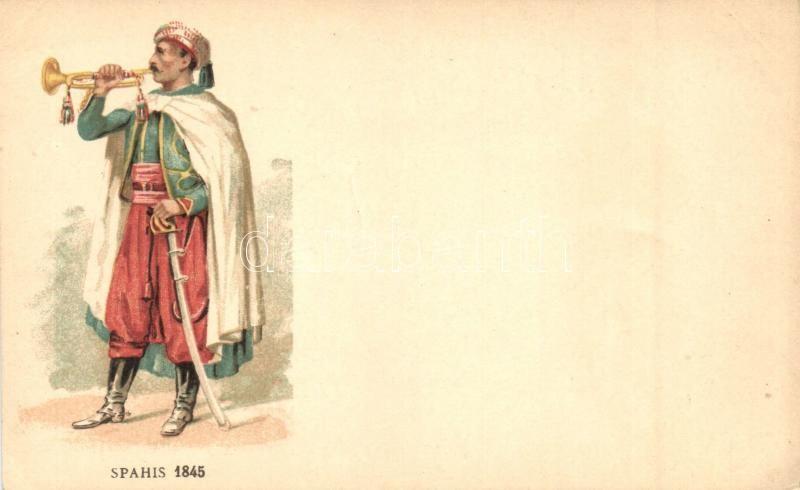 Spahis 1845 / Algerian spahi in French Army, litho, 1845 Algériai szpáhi a francia hadseregben, litho