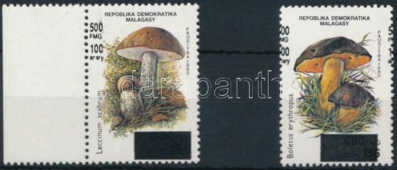 Mushroom overprinted set 2 values Gomba felülnyomott sor 2 értéke