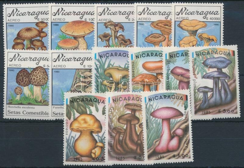 1985 + 1990 Mushroom 2 sets, 1985 + 1990 Gomba 2 klf sor