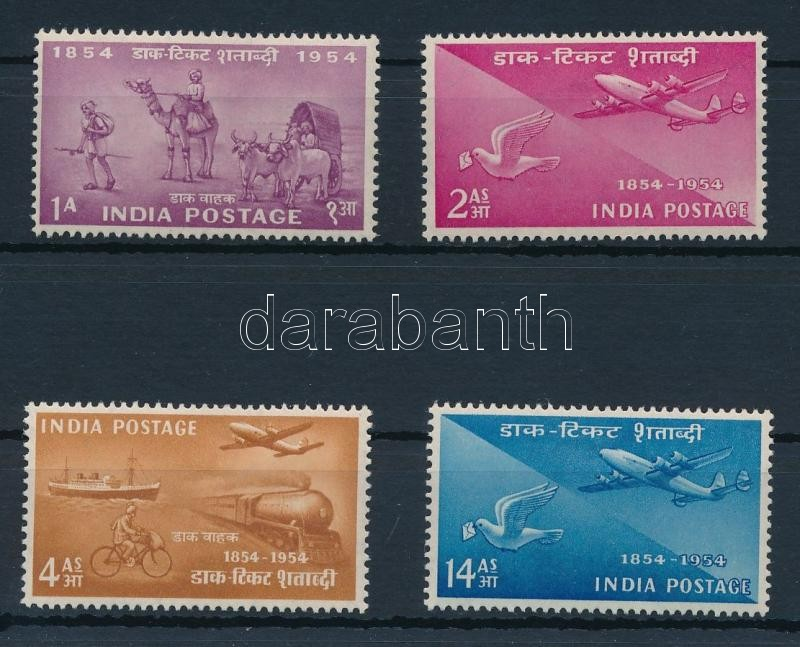 Centenary of Indian stamps set, 100 éves az indiai bélyeg sor
