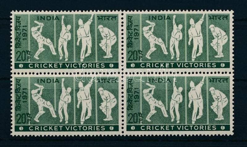 Sport - Cricket block of 4, Sport - krikett négyestömb