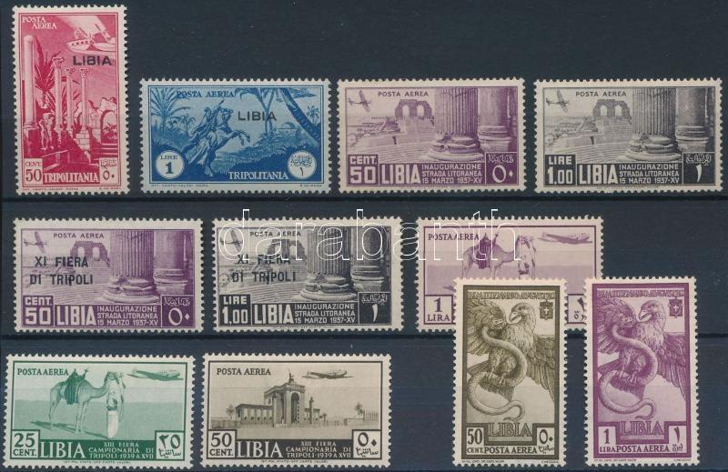 1936-1939 11 stamps, 1936-1939 11 klf bélyeg