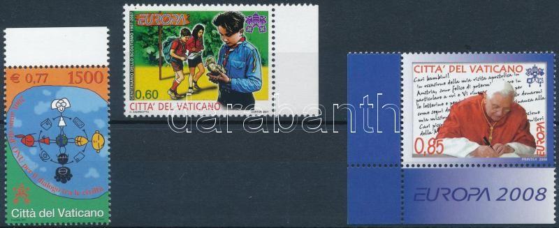 2001-2008 3 klf bélyeg, 2001-2008 3 diff stamps