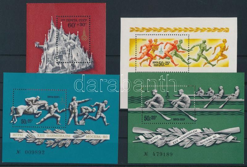 1976-1980 4 diff Olympics blocks, 1976-1980 4 klf Olimpia blokk