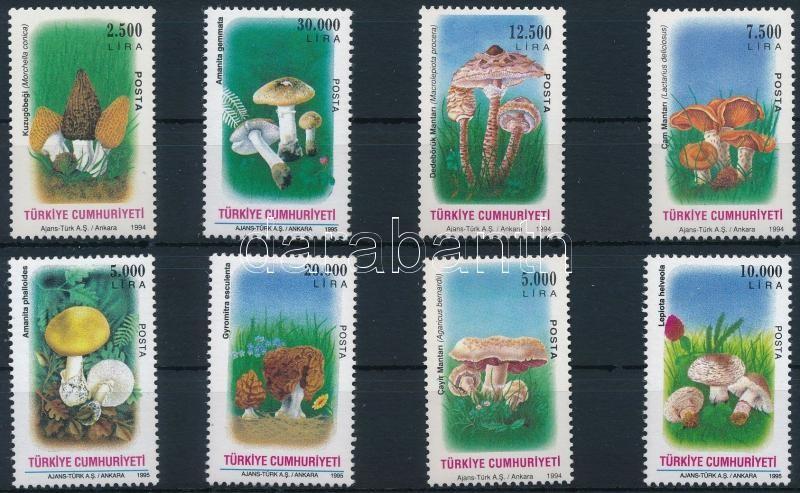 1994-1995 Mushrooms 2 diff set, 1994-1995 Gomba 2 klf sor