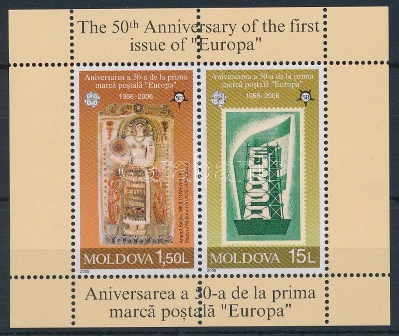 50 éves az Europa CEPT bélyeg blokk, Europa CEPT block