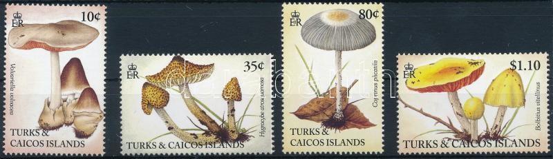 Mushrooms 4 stamps, Gomba sor 4 értéke