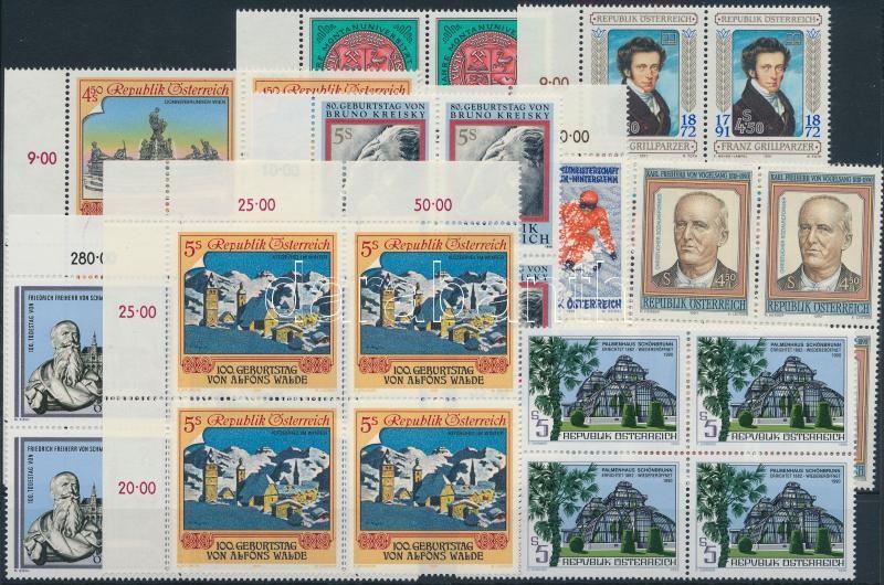 1990-1991 9 diff blocks of 4, 1990-1991 9 klf négyestömb