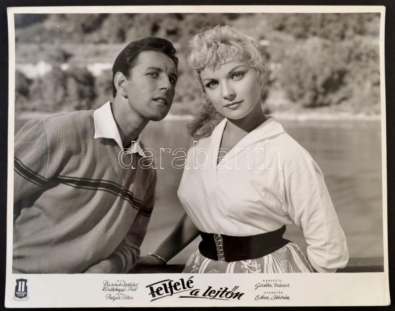 Házy Erzsébet és Kálmán György  Felfelé a lejtőn c. film jelenetében (1958)