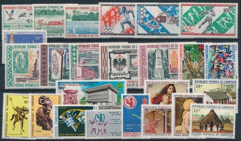 1971-1972 8 sets + 3 stamps, 1971-1972 8 klf sor + 3 klf önálló érték