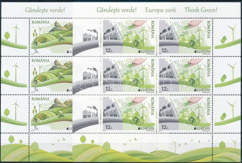 Europa CEPT, Environmental Awareness mini sheet set, Europa CEPT, Környezettudatosság kisív sor