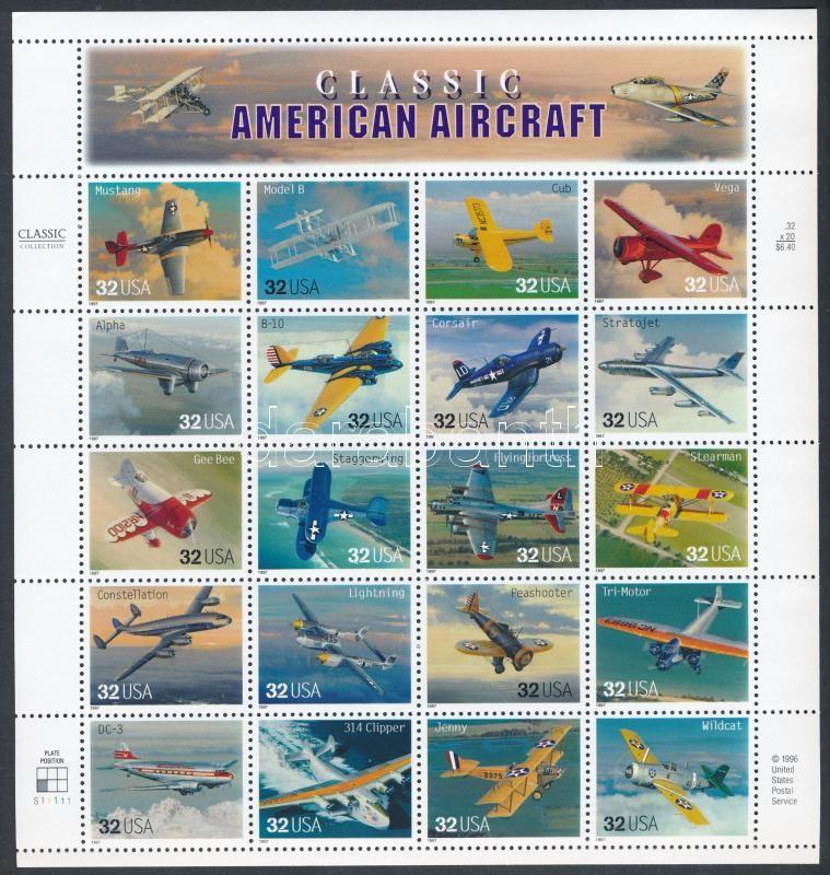 1997 Repülők teljes ív Mi 2833-2852