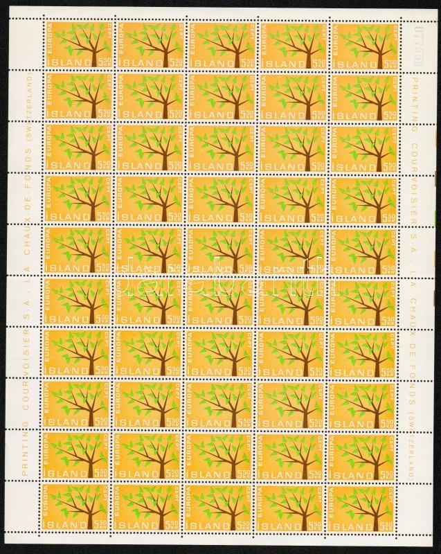 Europa CEPT set folded sheets of 50, Europa CEPT sor 50-es hajtott teljes ívekben