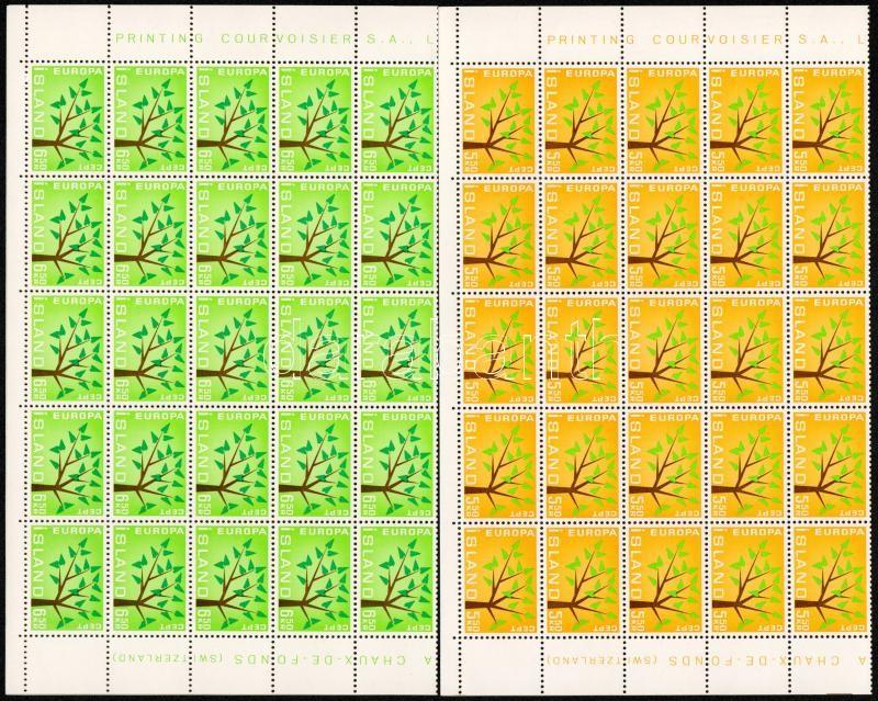 Europa CEPT sor 50-es hajtott teljes ívekben Europa CEPT set in folded full sheet of 50