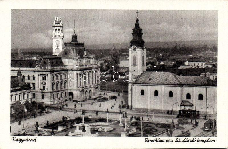 Oradea, church, town hall, Nagyvárad, Szent László templom, Városháza