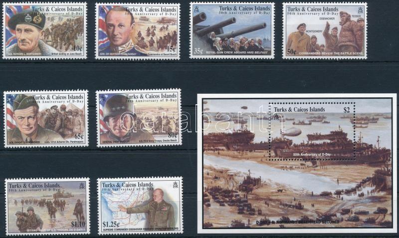 Normandy invasion set + block, Normandiai partraszállás sor + blokk