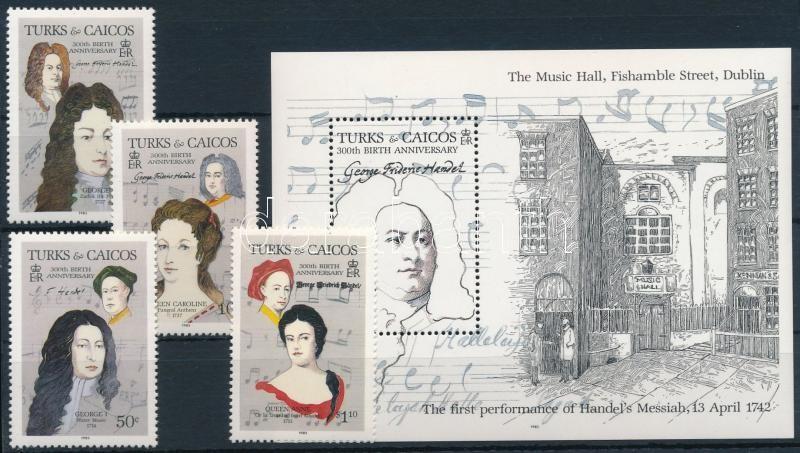 Georg Friedrich Händel set + block, Georg Friedrich Händel sor + blokk