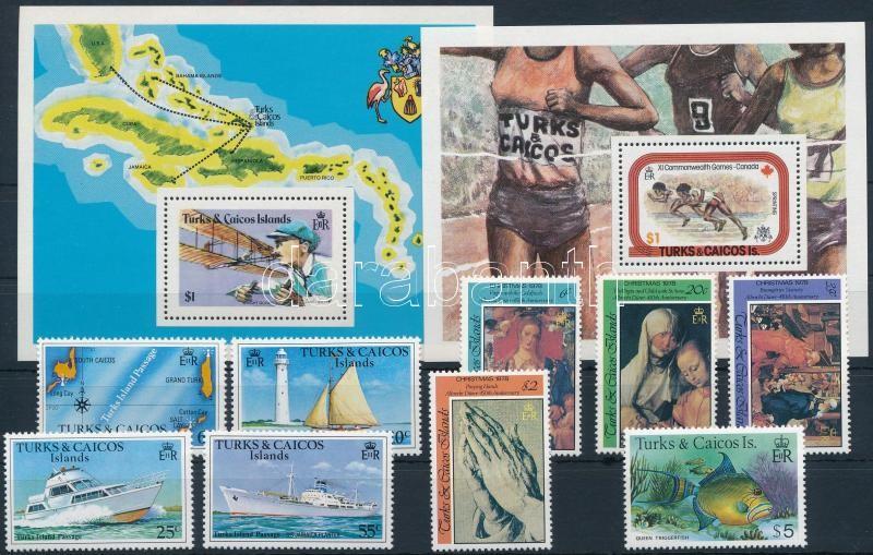 9 diff stamps + 4 diff blocks, 9 klf bélyeg és 4 klf blokk