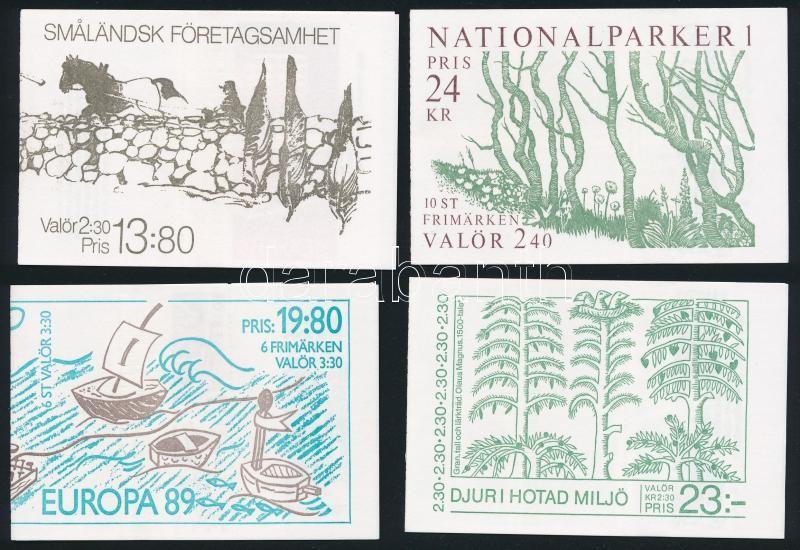7 diff Stampbooklets, 7 klf Bélyegfüzet
