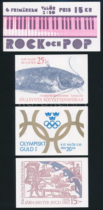 4 diff Stampbooklets, 4 klf Bélyegfüzet