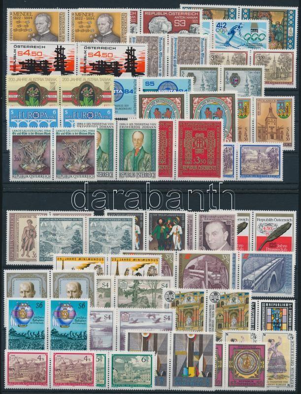 Complete Year, Teljes évfolyam bélyegei párokban