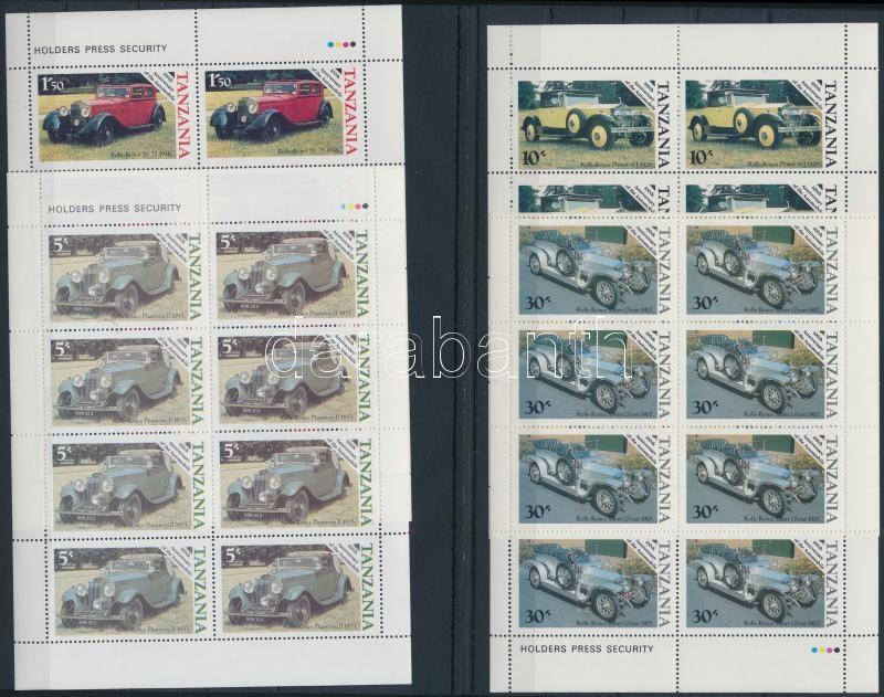 Centenary of Car mini sheet set, 100 éves az autó kisív sor