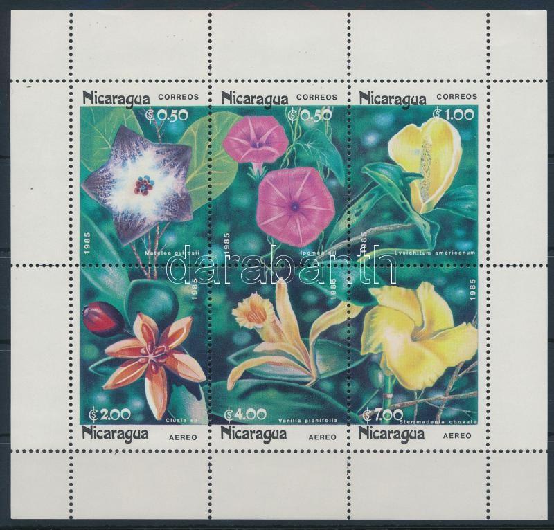 Flowers mini sheet, Virágok kisív