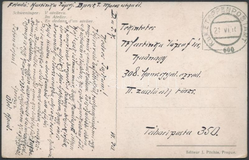 "Austria-Hungary Field Postcard ""EP 600"", Tábori posta képeslap ""EP 600"""
