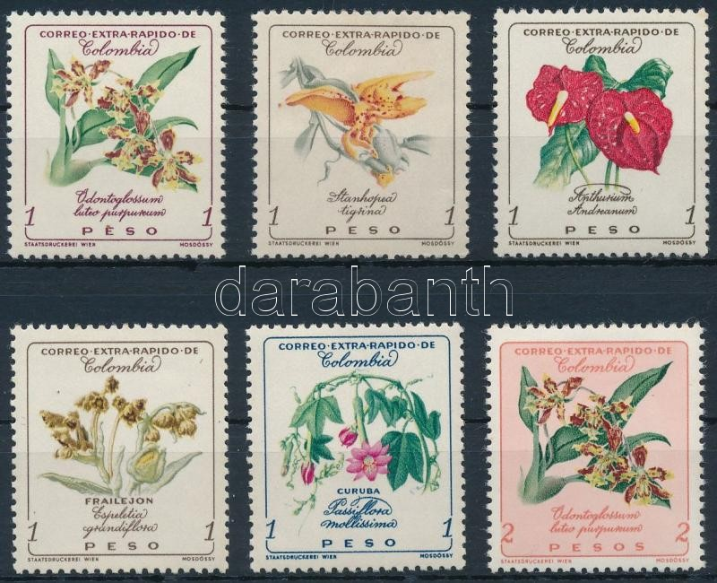 Flowers closing stamps, Virágok záróértékek