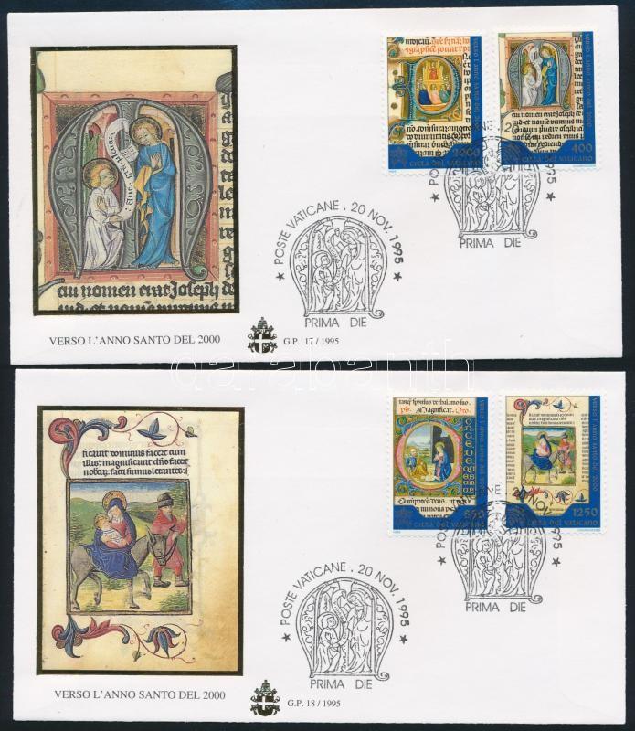 Holy Year 2000 set 2 FDCs, Szent év 2000-ben sor 2 db FDC-n