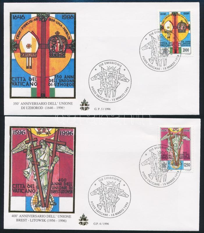 Union of Brest set 2 FDCs, Breszti Unió sor 2 db FDC-n