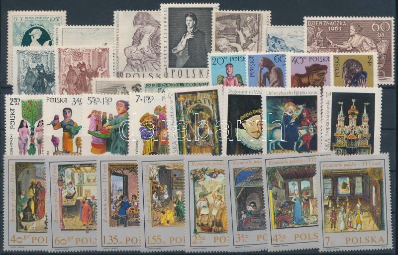 1957-1974 Művészet 31 klf bélyeg, közte sorok, 1957-1974 Art 31 stamps