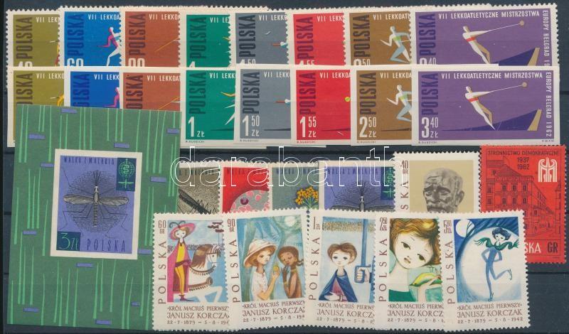 27 stamps + block, 27 klf bélyeg + blokk