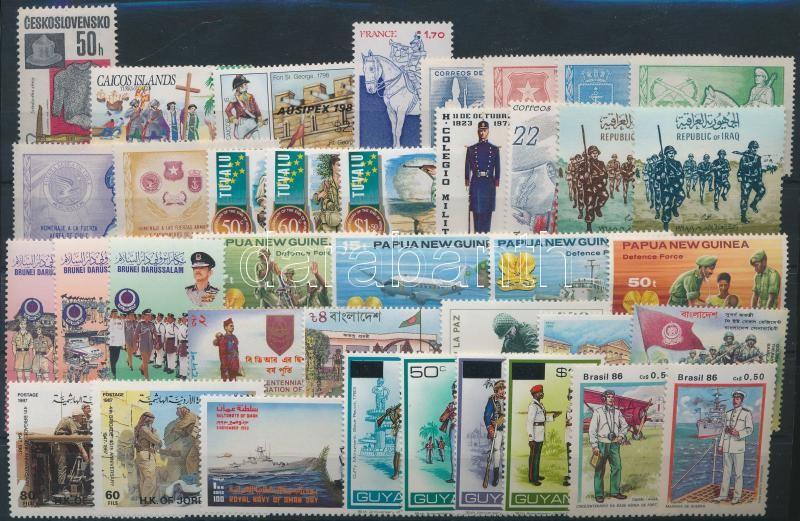 Uniform 8 set + 13 stamp, Egyenruha motívum 8 klf sor + 13 klf önálló érték
