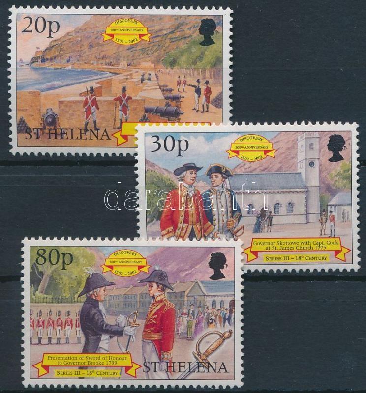 500th anniversary of the discovery of the island set 3 values (missing Mi 733), A sziget felfedezésének 500. évfordulója sor 3 értéke (hiányzik Mi 733)