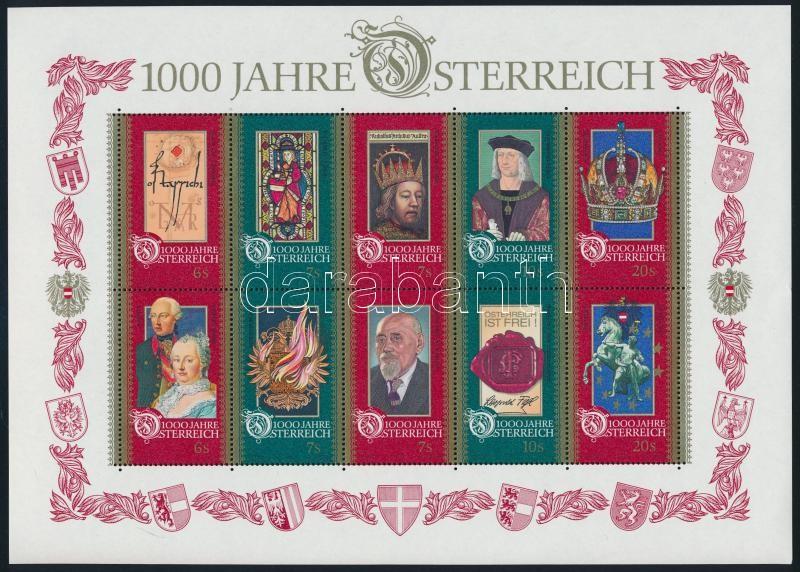 Austria block, 1000 éves Ausztria blokk