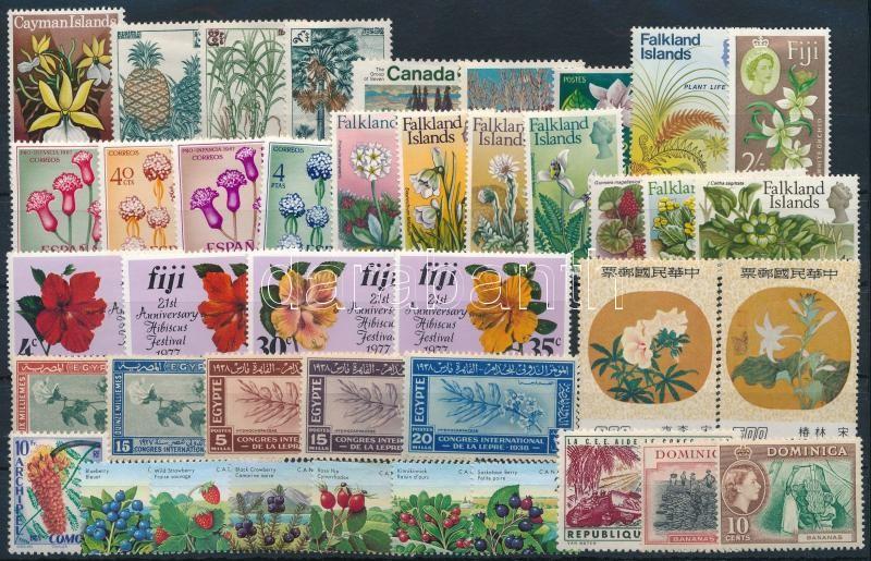 1927-1984 Flowers 41 diff stamps with sets, 1927-1984 Virág motívum 41 db klf bélyeg, közte teljes sorok és önálló értékek