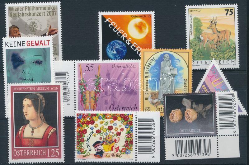 10 stamps, 10 klf bélyeg, köztük 4 ívszéli